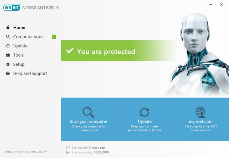 تحميل برنامج ESET NOD32 Antivirus للكمبيوتر اصدار 2017 التحديث الاخير 11 ESET NOD32 Antivirus تحميل برابط مباشر 3
