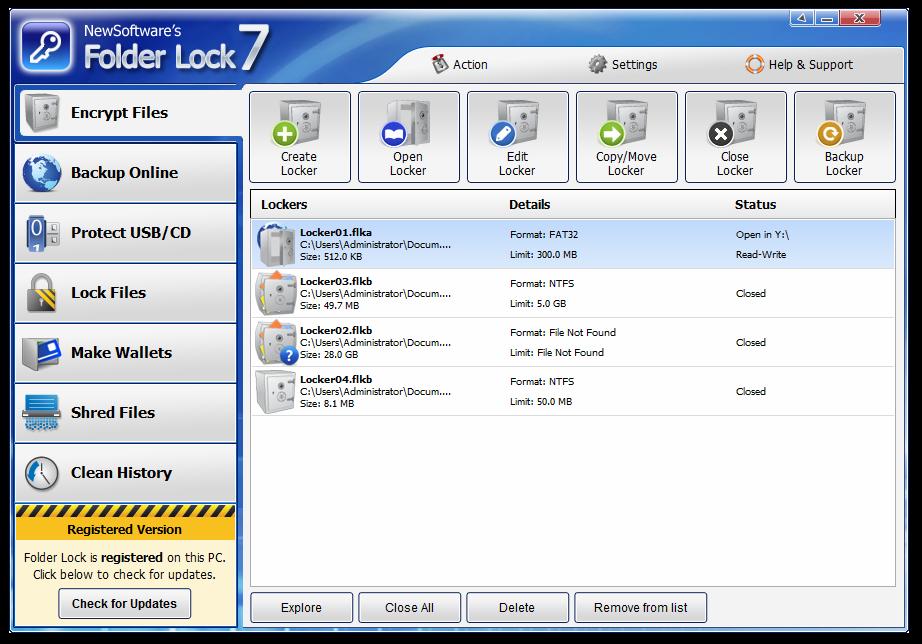 تحميل برنامج قفل الملفات