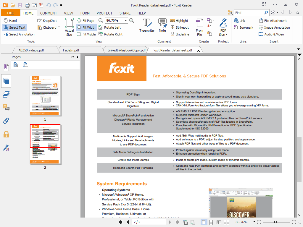 تحميل برنامج foxit reader برابط مباشر ميديا فاير