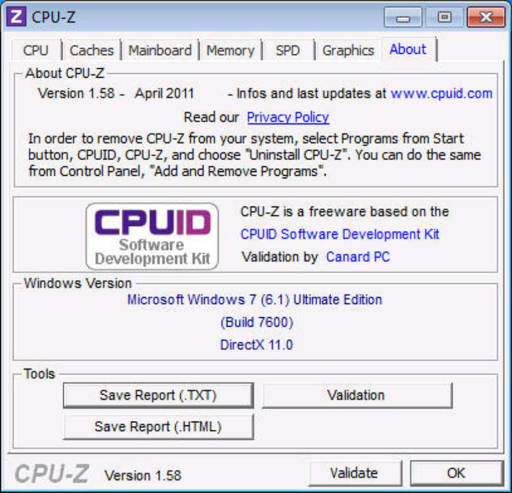 تحميل برنامج cpu-z أحدث إصدار
